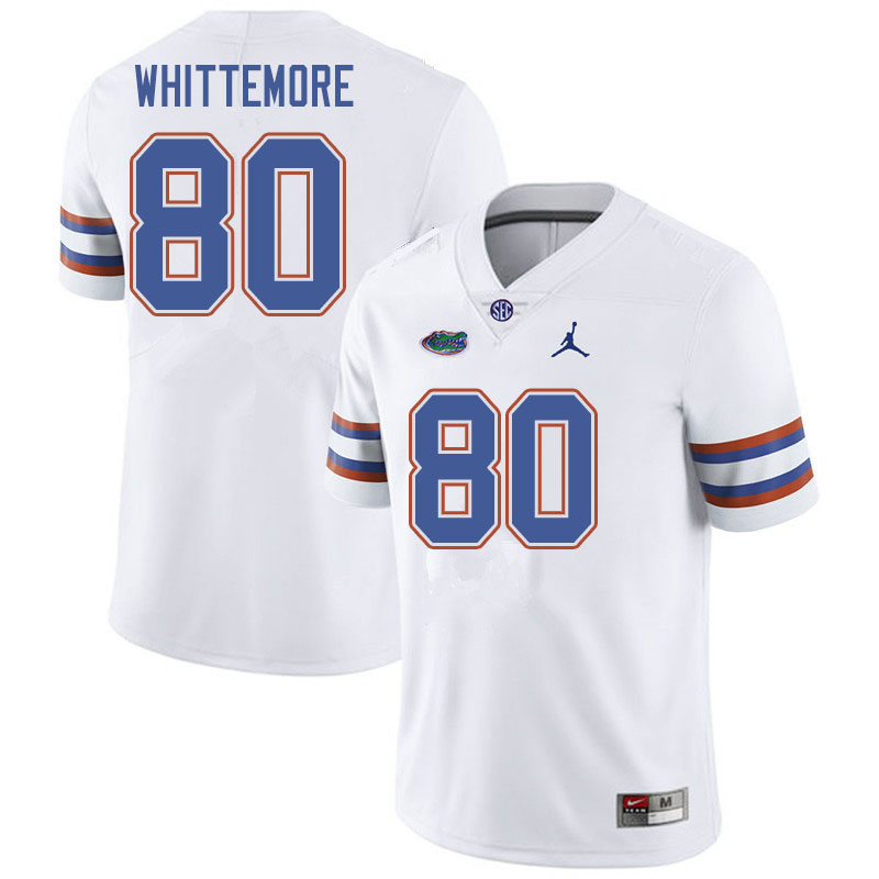 Jordan Brand Men #80 Trent Whittemore Florida Gators College Football Jerseys Sale-White